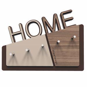 Picture of CALLEA DESIGN HOME WALL KEY HOLDER IN BLACK WALNUT COLOUR MODERN DESIGN