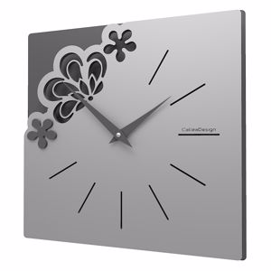 Picture of CALLEA DESIGN MERLETTO SMALL REFINED WALL CLOCK 30CM ALUMINIUM COLOUR