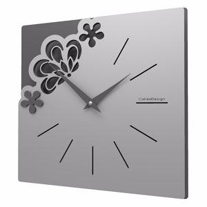 Picture of CALLEA DESIGN MERLETTO SMALL REFINED WALL CLOCK 30CM ALUMINIUM COLOUR