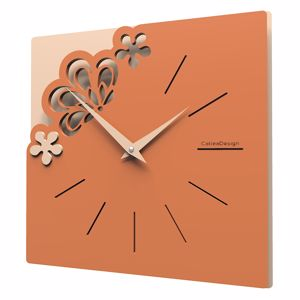 Picture of CALLEA DESIGN MERLETTO LITTLE WALL CLOCK TERRACOTTA COLOUR