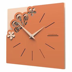 Picture of CALLEA DESIGN MERLETTO LITTLE WALL CLOCK TERRACOTTA COLOUR