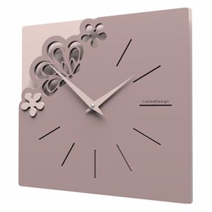 Picture of CALLEA DESIGN MERLETTO SMALL MODERN WALL CLOCK 30CM PLUM GREY COLOUR
