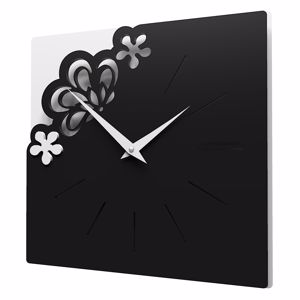 Picture of CALLEA DESIGN MERLETTO SMALL WALL CLOCK 30CM BLACK COLOUR