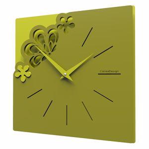 Picture of CALLEA DESIGN MERLETTO SMALL WALL CLOCK OLIVE GREEN COLOUR