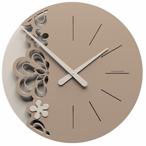 Picture of CALLEA BIG MERLETTO WALL CLOCK Ø45 IN CAFFELATTE COLOUR