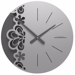 Picture of CALLEA BIG MERLETTO WALL CLOCK Ø45 IN ALUMINIUM COLOUR