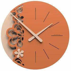 Picture of CALLEA BIG MERLETTO WALL CLOCK Ø45 IN TERRACOTTA COLOUR