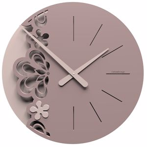 Picture of CALLEA BIG MERLETTO WALL CLOCK Ø45 IN PLUM GREY COLOUR