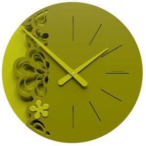 Picture of CALLEA BIG MERLETTO WALL CLOCK Ø45 IN OLIVE GREEN COLOUR