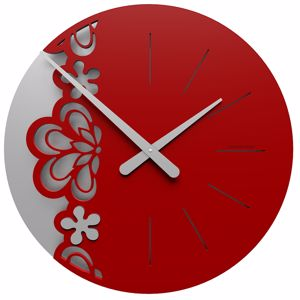 Picture of CALLEA BIG MERLETTO WALL CLOCK Ø45 IN RUBY COLOUR