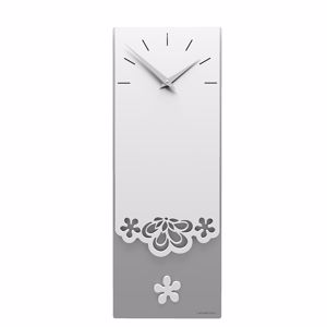 Picture of CALLEA DESIGN MERLETTO PENDULUM WALL CLOCK MODERN DESIGN IN WHITE COLOUR