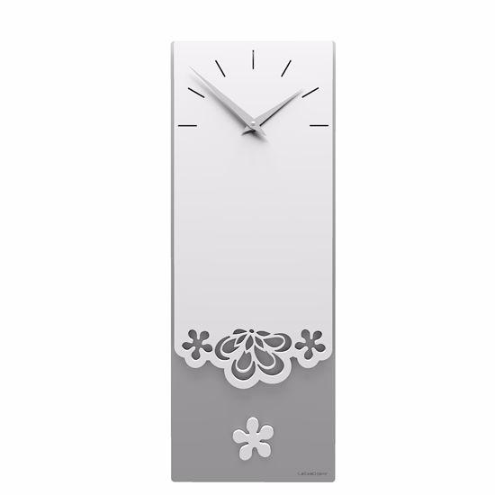 Picture of CALLEA DESIGN MERLETTO PENDULUM WALL CLOCK MODERN DESIGN IN WHITE COLOUR