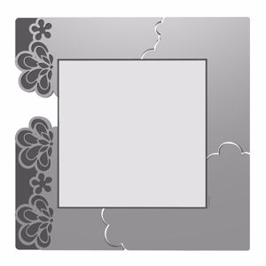 Picture of CALLEA DESIGN MERLETTO WALL MIRROR ORIGINAL DESIGN IN ALUMINIUM COLOUR