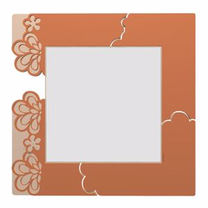 Picture of CALLEA DESIGN MERLETTO WALL MIRROR ORIGINAL DESIGN IN TERRACOTTA COLOUR