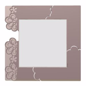 Picture of CALLEA DESIGN MERLETTO WALL MIRROR ORIGINAL DESIGN IN PLUM GREY COLOUR