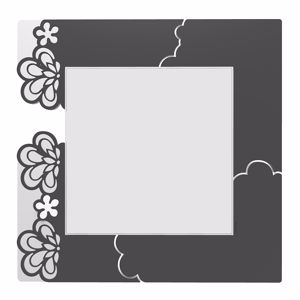 Picture of CALLEA DESIGN MERLETTO WALL MIRROR ORIGINAL DESIGN IN BLACK COLOUR