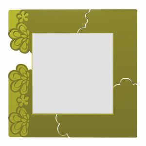 Picture of CALLEA DESIGN MERLETTO ORIGINAL WALL MIRROR IN OLIVE GREEN COLOUR