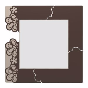 Picture of CALLEA DESIGN MERLETTO ORIGINAL WALL MIRROR IN CHOCOLATE COLOUR