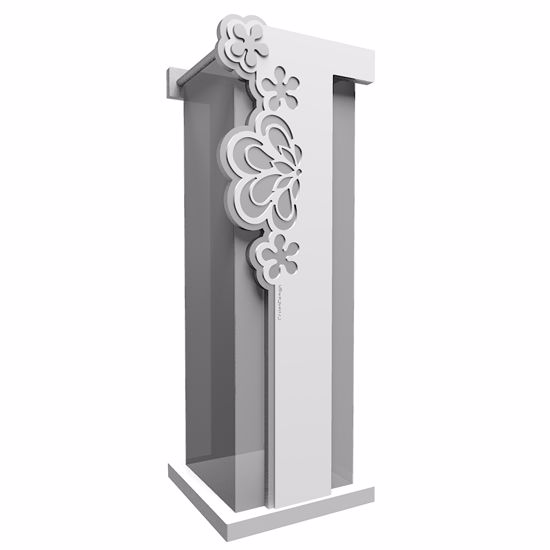 Picture of CALLEA DESIGN MERLETTO MODERN UMBRELLA RACK WHITE COLOUR