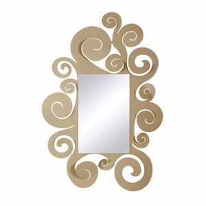 Picture of ARTI E MESTIERI TEMPLE WALL MIRROR BEIGE FRAME CONTEMPORARY DESIGN