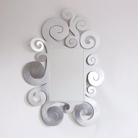 Picture of ARTI E MESTIERI TEMPLE WALL MIRROR SILVER LEAF CONTEMPORARY DESIGN