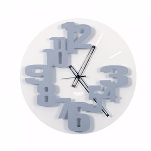 Picture of ARTI E MESTIERI PERSEO WALL CLOCK Ø40 MODERN DESIGN ALUMINIUM COLOUR