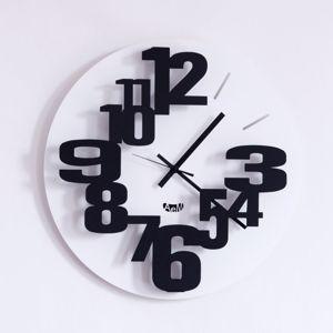 Picture of ARTI E MESTIERI PERSEO WALL CLOCK Ø40 MODERN DESIGN BLACK COLOUR