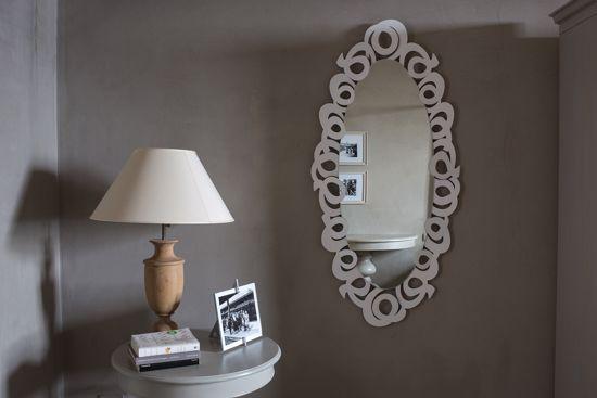 Picture of ARTI E MESTIERI NASTRI WALL MIRROR CONTEMPORARY DESIGN WHITE RIBBONS