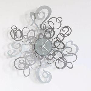 Picture of ARTI E MESTIERI KEKASINO WALL CLOCK MODERN DESIGN SLATE AND ALUMINIUM COLOURS
