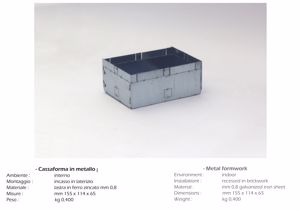 Picture of ISYLUCE HOUSING BOX IN METALFOR MASONRY ART 822