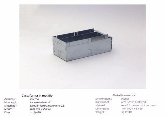 Picture of ISYLUCE HOUSING BOX IN METALFOR MASONRY ART 823
