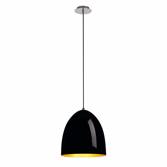 Picture of SLV PARA CONE 30 MODERN METAL SUSPENSION Ø20CM GLOSSY BLACK & GOLD