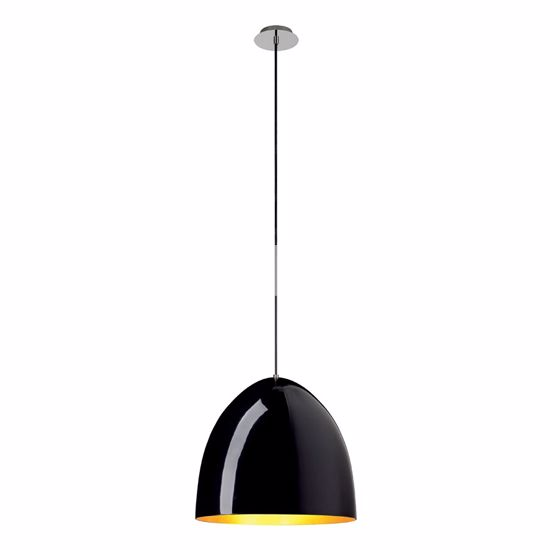 Picture of SLV PARA CONE 40 MODERN SUSPENSION Ø40CM GLOSSY BLACK & GOLD