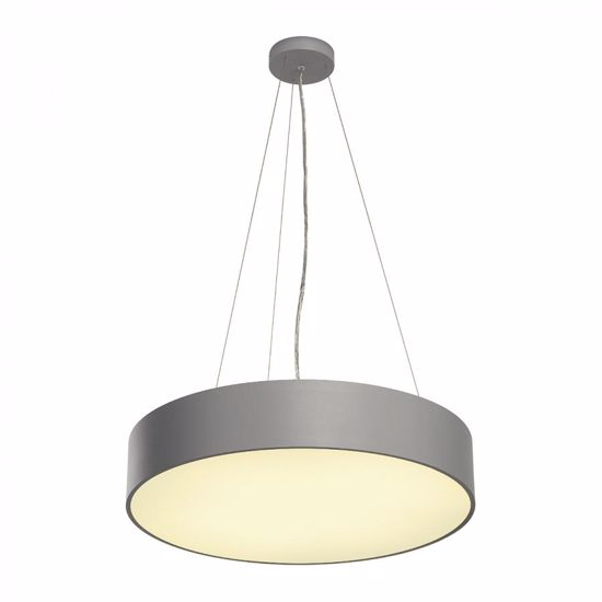 Picture of SLV MEDO 40 LED BIG SUSPENSION LIGHT Ø60CM  GREY SILVER CYLINDER