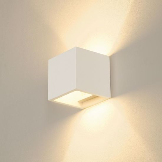 Picture of PLASTER CUBE WALL LIGHT 11,5 CM PAINTABLE AT WILL