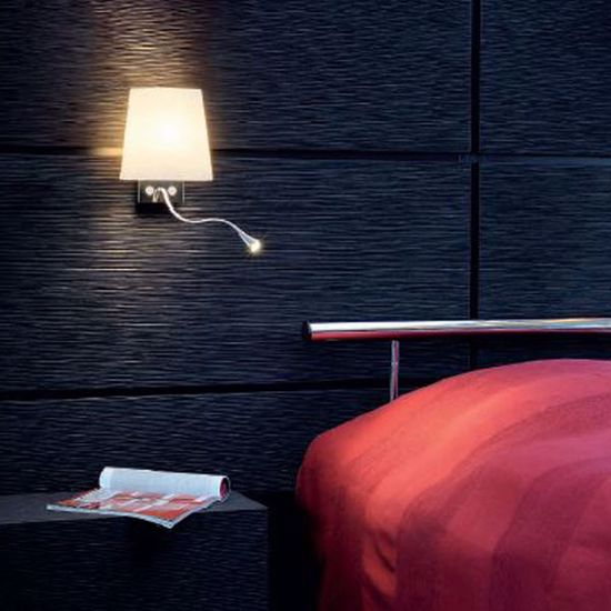 Picture of WALL READING LIGHT ABOVE BEDSIDE TABLES