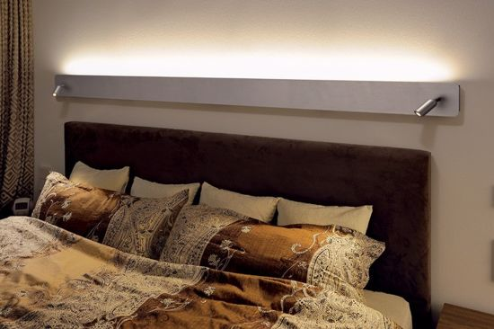 Picture of SLV NAPIA TWIN SWIVEL WALL LED LIGHT ABOVE BED