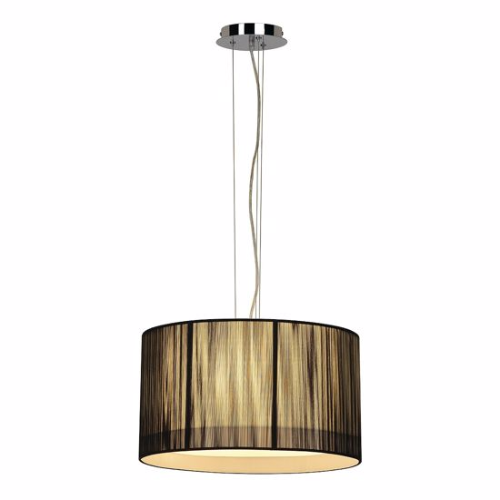 Picture of SLV LASSON PD-3 CYLINDER LIGHT IN BLACK PLEATED FABRIC
