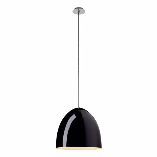 Picture of SLV PARA CONE 40 MODERN SUSPENSION Ø40CM GLOSSY BLACK