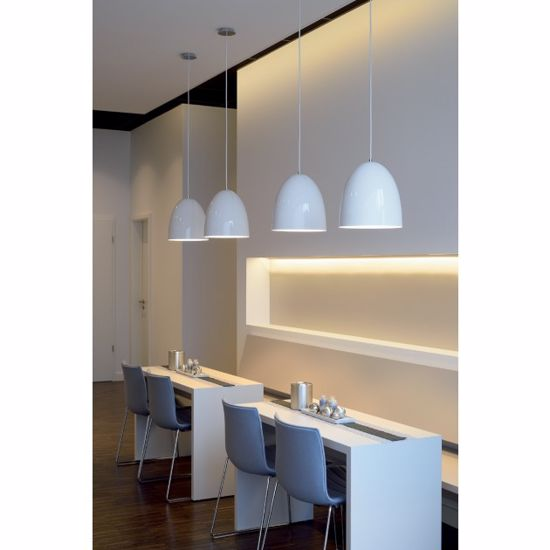 Picture of SLV PARA CONE 40 MODERN SUSPENSION Ø40CM GLOSSY WHITE METAL