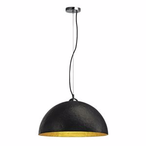 Picture of SLV FORCHINI PD1 DOME SUSPENSION LIGHT BLACK & GOLD Ø50CM