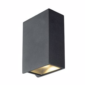 Picture of ANTHRACITE MODERN LED WALL LIGHT DOUBLE NARROW LIGHT BEAM IP44