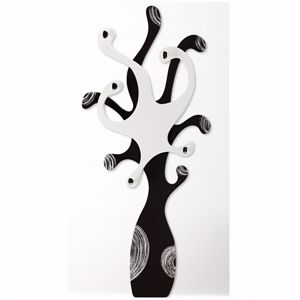 Picture of PINTDECOR PIOVRA MODERN COAT HANGER COFFEE-COLOURED AND IVORY WITH SILVER FOIL DETAILS