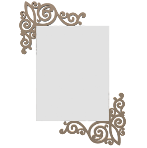 Picture of CALLEA DESIGN ARTNOUVEAU WALL MIRROR MODERN DESIGN CAFFELATTE-COLOURED