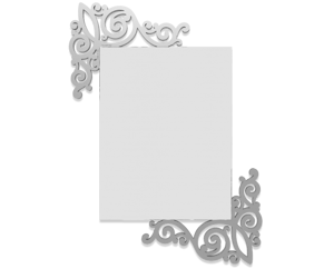 Picture of CALLEA DESIGN ART NOUVEAU WALL MIRROR ALUMINIUM-COLOURED MODERN DESIGN