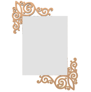 Picture of CALLEA DESIGN ART NOUVEAU WALL MIRROR LIGHT PEACH FINISHING ORIGINAL DESIGN