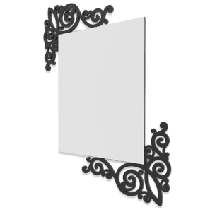 Picture of CALLEA DESIGN ARTNOUVEAU NEW WALL MIRROR ORIGINAL DESIGN BLACK COLOUR