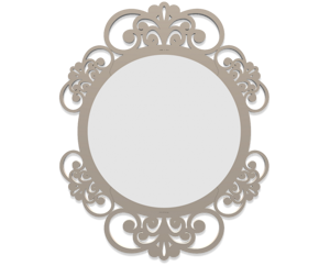 Picture of CALLEA DESIGN VIENNA WALL MIRROR  DOVE GREY FINISHING ORIGINAL DESIGN