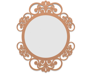Picture of CALLEA DESIGN VIENNA WALL MIRROR  SHABBY CHIC DESIGN TAN FINISHING