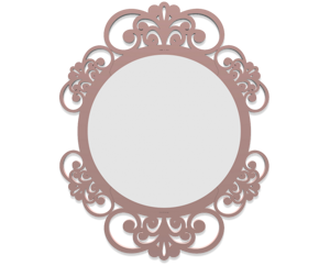Picture of CALLEA DESIGN VIENNA WALL MIRROR  SHABBY CHIC DESIGN CLOUD PINK FINISHING